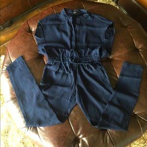 Aritiza navy jumpsuit